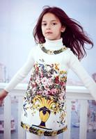 Wholesale Vestidos Infantil - Princess Dress Robe Enfant 'Vaso Fiori' Flower Girl Dress Vestidos Infantil Children Clothing Kids Dresses for Girl Clothes