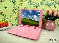 Wholesale Netbook Laptops Pc - 1:12 Dollhouse furniture Miniature Mini Portable Model Metal Laptop Notebook Netbook PC Computer IPAD study room ornament decor toy gift