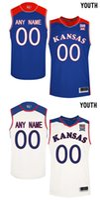 Wholesale Kansas Royals Jersey - 2016 Youth Kansas Jayhawks Customized College Basketball Authentic Jersey - Royal Blue White