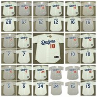 blue bakers - Los Angeles Dodgers STEVE GARVEY STEVE YEAGER RON CEY DUSTY BAKER DAVEY LOPES RICK MONDAY FERNANDO VALENZUELA Throwback Baseball Jersey