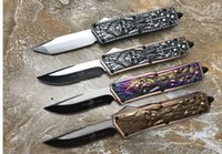 Wholesale Microtech KG Ahriman Straight Out Of The Knives High quality EDC outdoor tactical combat self defense knives