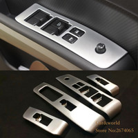 Wholesale Nissan Glass - For Nissan X-Trail T31 Glass Switch Cover Trim Door Window Button Decoration Panel ABS chrome X trail 2008 to 2013 Car-styling Accessories