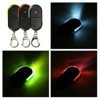 Wholesale Keychain Packaging - 100pcs Key Finder & LED Light Alarm Locator Find Lost Keychain Fob Whistle Caravan with Blister Package
