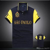 Wholesale Casual T Shirts Cheap - PoloShirt men Short Sleeve T shirt Brand London New York Chicago polo shirt men Dropship Cheap Free Shipping