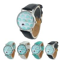 relógios de imitação venda por atacado-Marca Elefante Amizade Pulseira Relógio GENEVA Relógios Mulheres Quarzt Relógios