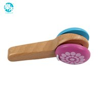 Wholesale Music Instruments For Kids Wholesale - Wholesale- Baby Rattle musical instruments Wooden handbell toys for kid 1-12months colorful music baby education wood bell toy
