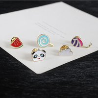 Wholesale Panda Pins - Unisex Balloon Brooch pins for male & female alloy pins new fashion design girls & boys panda & Lollipop pins Jewelry for gifts
