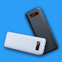 doble real al por mayor-KONCOO K15 Real 15000mAh Power Bank Cargador portátil con pantalla LED Batería externa de salida USB doble para teléfono inteligente Tableta
