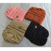 Wholesale Bonnets For Girls - 2017 Solid Adult Gorro C.c hat Women's Men Chucky Stretch Cable Knit Slouch Cc Beanie bonnet female winter hats for women Girls