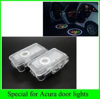 honda logo leuchtet großhandel-2 stücke 2016 neueste 1 satz für Honda Acura MDX ZDX TL RLX Autos auto lichtquelle LED tür willkommen lichter laser projektor logo geist schatten