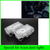 Wholesale acura cars logo - 2pcs 2016 newest 1 set for Honda Acura MDX ZDX TL RLX Automobiles car light source LED door welcome lights laser projector logo ghost shadow