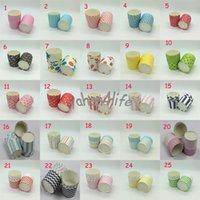 Wholesale 1000pcs Round Big MUFFIN CAKE Paper Cups CUPCAKE CASES Chiffon Cake Mould Liner Candy holder