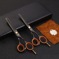 Wholesale Wholesale Thinning Shears - Wholesale- Onwear Professional Hair Scissors set 5.5 inch Barber Cutting Thinning Shears Salon Hairdressing tesoura with case
