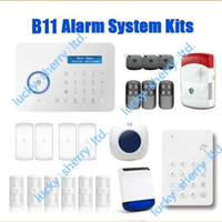 Wholesale Chuango Security Gsm Touch - Chuango B11 Touch Keypad GSM SMS SIM   PSTN Wireless Home Security Burglar Alarm System 315Mhz DHL Free Shipping Fast Delivery