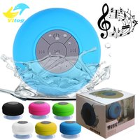 Wholesale Mini Portable Subwoofer Shower Waterproof Speaker Wireless Bluetooth Car Handsfree Receive Call Music Suction Mic For iPhone Samsung