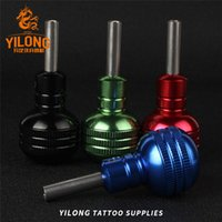 Wholesale 35mm Grip - 1Pcs 35MM Pro Aluminum Alloy Tattoo Grip With Back Tattoo Machine Supplies Handle Gun Tube 5 Color