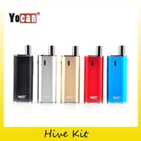 Wholesale Wholesale Herbal Oils - Authentic Yocan Hive Kit with 2 in 1 Vaporizer For Wax & oil 650mah Battery Box Mods CE3 O Pen Atomizer herbal vaporizer 2204032