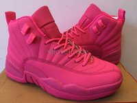Wholesale Womens Satin Tops - Womens Air Retro 12 XII basketball shoes in pink 2016 new 12s retro woman shoes for sale in top quality wholesale free shipping