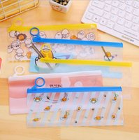 Wholesale Kids Plastic Pencil Boxes - Q02 Kawaii Cute Gudetama Lazy Egg Clear Pen Case Pencil Bag Box Storage School Office Supply Birthday Gift Kids Stationery
