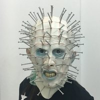 Wholesale Deluxe Nails - Halloween Masks Men Deluxe Novelty Halloween Costume Party Latex Nail Head Mask Horrific Cosplay Breathable Festival Party Supplies SA Only