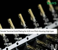 Wholesale Gold Crimps - 10000pcs High quality Female 5557 ATX   EPS PCI-E Half Gold Plated terminals Crimp Pins with Long Legs