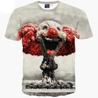 vendendo camisas 3d venda por atacado-3D T shirts venda Quente Dos Desenhos Animados t-shirt para homens / menino camiseta 3d impressão atômica nuvens bomba de manga curta tshirt tops de verão A13