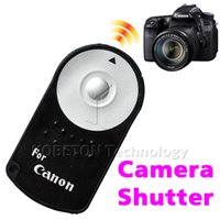 Wholesale Dslr Remote Control - Wholesale- RC-6 RC6 IR Infrared Wireless Remote Control Shutter Release For Canon EOS DSLR SLR 5D Mark 2 3 5D2 7D 7D2 550D 500D 60D 600D 6D