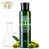 Wholesale Olive Oil Cleanse - LAIKOU Olive Oil Makeup Remover Intensive Purify Cleansing Water Skin Care Eyes Lips Face Deep Clean Cleaner Wiper 100ml