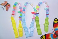 Wholesale Plastic Pacifier Clips - Baby and baby nipple chain clip pacifier clips pacifier holders chain dummy clip  Teethers clip for baby