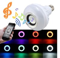 Wireless 12W E27 LED RGB Bluetooth Speaker Bulb power com Music Playing Light Lamp + controle remoto