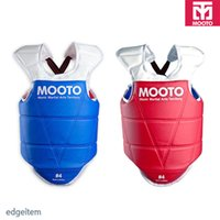 Wholesale Chest Guard - Wholesale- Mooto TaeKwonDo Red Blue Chest Guard Gear WTF KTA Approved Protector