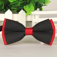 Wholesale New Bow Ties - Fashion 2017 New Men's Patchwork Adjustable Unique Tuxedo Bowtie Wedding Party Bow Tie Casual Male Tuxedo Bowtie Ties q170669