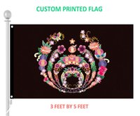 Wholesale Flower Banners - New fashion 3ft x 5ft Flower Bassnectar Decorative Flag 100D polyester Flags and banners