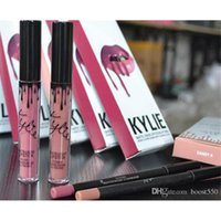 Wholesale Cheap Pink Lipstick - Cheap In stock Kylie Lip kit Gloss Lipline Poise Lipstick Kylie Jenner mental Matte Lipstick pencil lipstick lip CANDY KOURT KOKO K
