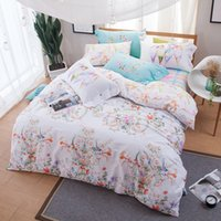 KELUO Brand 100% Cotton Bedding Set, padrão de flor de pássaro impresso Double FULL Queen Size Bedding set venda quente