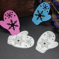 Wholesale Card Glove - Christmas Gloves DIY Metal Cutting Dies Stencil Scrapbook Card Album Paper Embossing Crafts