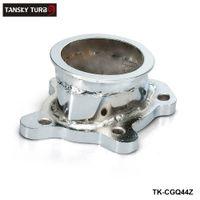 t25 brida turbo al por mayor-TANSKY - Para GT25 GT28 T25 T28 Turbo Down Pipe 5 perno a 2.5
