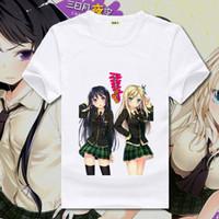 Wholesale Kirino Kousaka - Boku wa Tomodachi ga Sukunai Mikaduki Yozora T-shirts Printed T Shirts Kirino Kousaka Short Sleeve Tees Casual Summer Tops