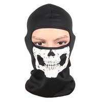 Wholesale skull full face ski mask for sale - New D Outdoor Sports Hunting Bicycle Cycling Skateboard Motorcycle Skull Ghost Ski Riding Hat Balaclava Protect Full Face Mask