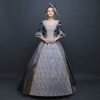 Wholesale Civil War Gowns - 2016 Female Fashion Vintage Southern Belle Dress Civil War Marie Antoinette Ball Gown Birthday Party Costume