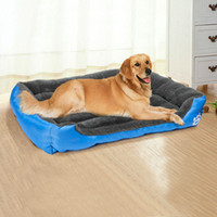 casas de perros extra grandes al por mayor-Pet Dog Bed Warming Dog House Material suave Pet Nest Dog Fall and Winter Warm Nest Kennel para Cat Puppy Plus Size