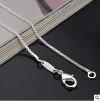 neuankömmlinge silberkorea großhandel-neue Ankunft Freeshipping 100 PC Los heißer Verkauf 2mm 925 silberne Kettenhalskette Großhandels-Korea-Halskettenqualität für Frauengeburtstag