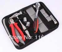 Wholesale Electrician Kit - Wholesale-Cheap Black Men's Mini Hand-by Tool bag with nets Electrician small Kits organizer bag without Tools