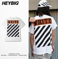 Wholesale Chinese Men S Clothes Fashion - Off White diagonals T-shirt Men 2017 Skate Tee American Fashion streetwear HEYBIG Youth hiphop Shirts Chinese Size clothing