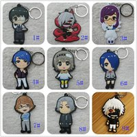 Wholesale anime skeleton costume for sale - Hot Japanese anime Tokyo Ghoul Keychain PVC Dijiao Keychain double PVC Keychain Costume Props Collectible