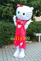 Wholesale Mascot Kitty - 2017 holle kitty triangle Mei red high quality cartoon mascot costume adult size of various masquerade costume fancy dress party free shippi