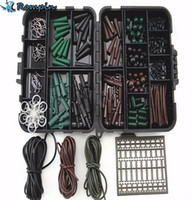 Wholesale Hair Accessories Boxes - Rompin Assorted Carp Fishing Accessories Tackle Boxes for Hair Rig Combo box with Hooks,Rubber, Swivels, Beads, Sleeves,Stoppers