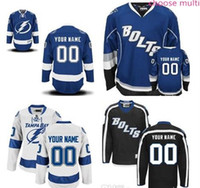 Wholesale Cheap Bolts - Stitched Custom Tampa Bay Lightning mens womens youth Away Home White royal Blue Black Third ice Hockey cheap kids BOLTS Jerseys size S-4XL