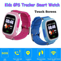 """Wholesale Gift Boxed Watches For Children - Kids Children Xmas Gift Q90 Smart Kid GPS Watch SOS Call Locate Tracker Wifi 1.22"""" Touch Screen SIM Slot Wristwatch Retail Box"""