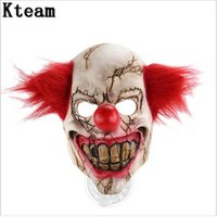 Wholesale Evil Clowns - Funny Party Cosplay New Evil Circus Clown Mask Pennywise Halloween Horror Party Joker Mask Fancy Dress Costume Accessory